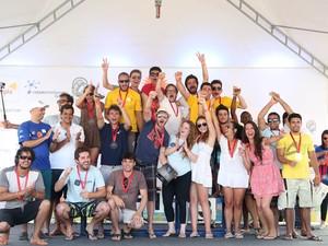 Alunos de Joinville venceram categoria catamarã (Foto: Marco Antônio Teixeira/Divulgação)
