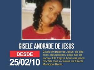 Gisela Andrade saiu do colégio em 2010 e desapareceu (Foto: Divulgação)