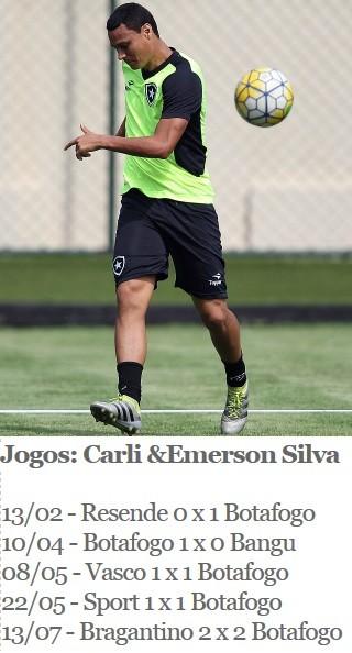 Emerson Silva, Botafogo (Foto: Arte Esporte)
