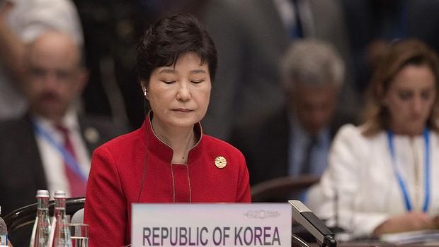A presidente sul-coreana Park Geun-hye na cúpula do G20 na China (Foto: Nicolas Asfouri - Pool/Getty Images)