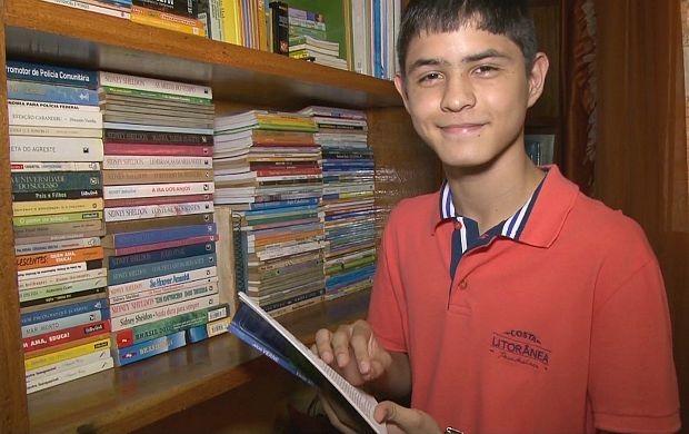 Leonardo Silva Brito conquistou 3º lugar em concurso internacional de redação (Foto: Rondônia TV)