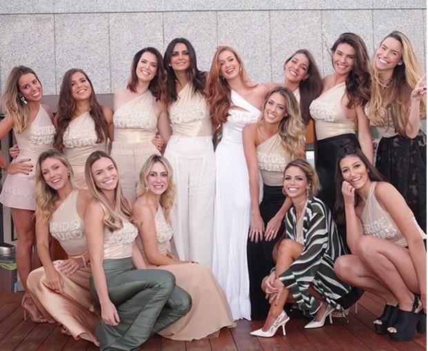 As madrinhas de Marina Ruy Barbosa (Foto: Reprodução/Instagram)