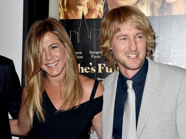 Jennifer Aniston e Owen Wilson em première de filme em Los Angeles, nos Estados Unidos (Foto: Kevin Winter/ Getty Images/ AFP)