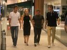 Angélica e Luciano Huck jantam com Gustavo Kuerten em shopping do Rio