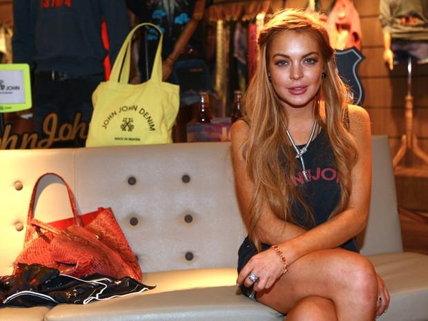 Lindsay Lohan em evento em São Paulo (Foto: Iwi Onodera / EGO)