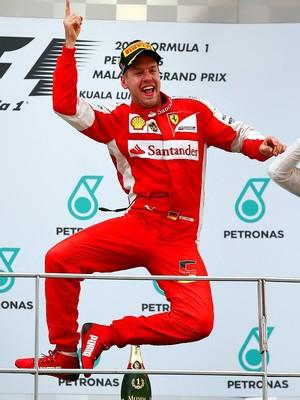 Sebastian Vettel Ferrari GP da Malásia (Foto: Getty Images)