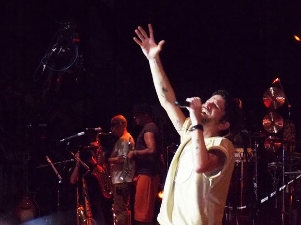 Saulo grava primeiro DVD em carreira solo em Salvador (Foto: Danutta Rodrigues/G1)