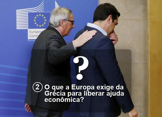 O que a Europa exige da Grécia para liberar ajuda econômica?  (Foto: G1)
