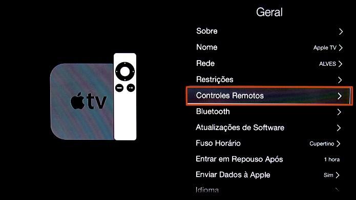Abra o gestor de controles remotos (Foto: Reprodução/Paulo Alves)