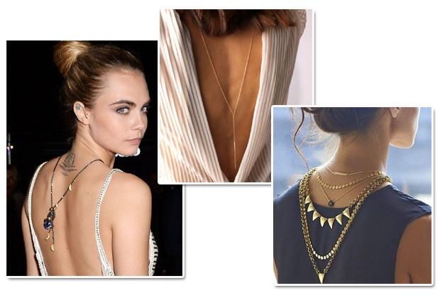 Famosas e fashionistas aderiram aos colares nas costas (Foto: Getty Images/Reprodução Instagram)