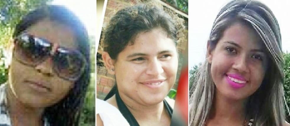 Rosineide Paula Fernandes da Silva, de 23 anos, Leidiane da Silva Freitas, de 27, e Marina Rane Martins de França, 21, são três das seis vítimas da violência neste fim de semana no RN (Foto: PM/Divulgação)