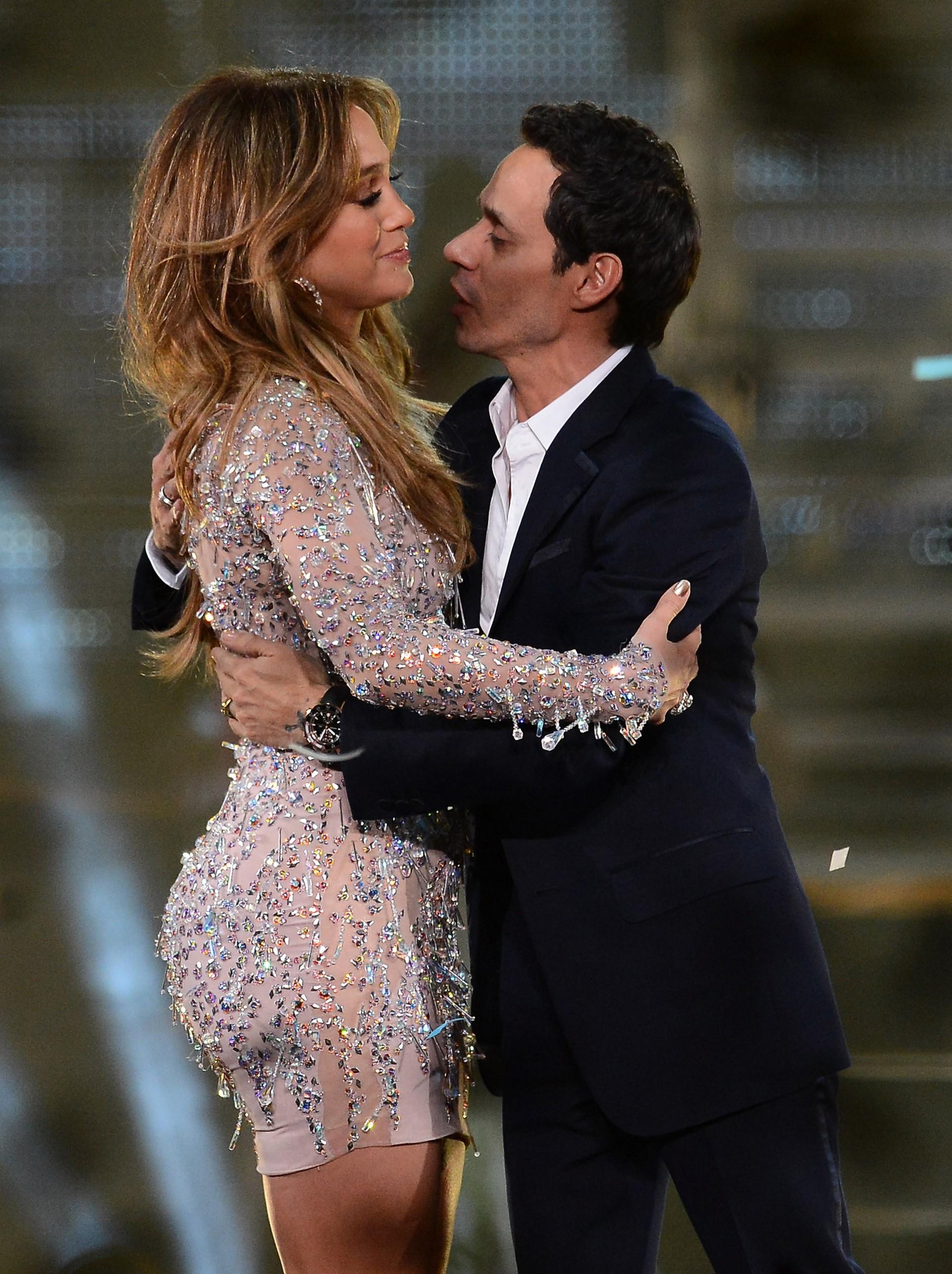 Ao contrário de outros casais de celebridades, essa dupla parece ter se separado de maneira bastante amigável. O rompimento, em julho de 2011, não os impediu de trabalharem juntos no programa de TV 'Q'Viva!', uma competição que busca novos talentos latinos.  (Foto: Getty Images)