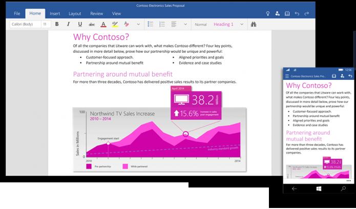 Aplicativos do Office podem ser baixados na Windows Store Beta (foto: Reprodução/Microsoft)