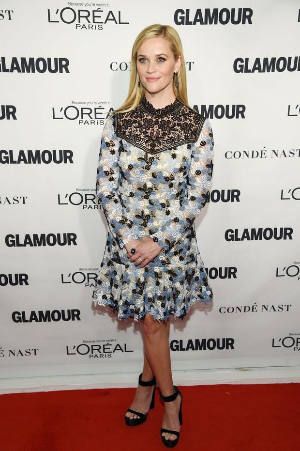 Reese Witherspoon em premiação em Nova York, nos Estados Unidos (Foto: Dimitrios Kambouris/ Getty Images/ AFP)