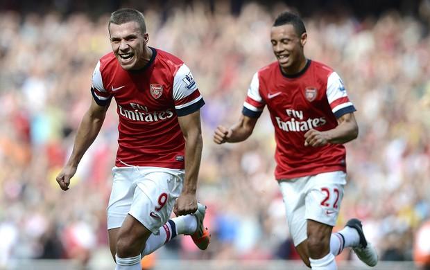 Podolski, Arsenal x Southampton (Foto: Agência Reuters)