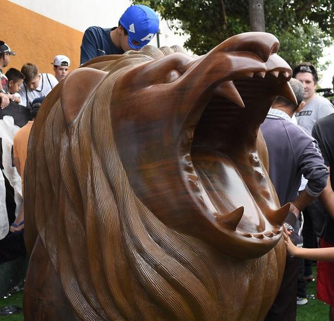 Leão mascote Bragantino Nabiz (Foto: Rafael Moreira Produções / C.A. Bragantino)