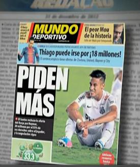 """Capa do jornal """"Mundo Deportivo"""" (Foto: Reprodução)"""