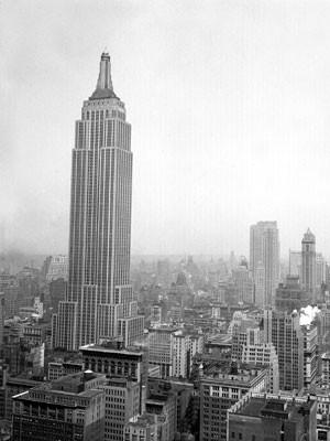 O Empire State em foto de 1935, quatro dias após sua inauguração (Foto: AP)