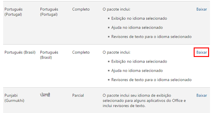 Baixe o pacote de idioma em português do Brasil (Foto: Reprodução/Paulo Alves)