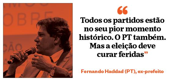 """""""Todos os partidos estão em seu pior momento histórico. O PT também. Mas a eleição deve curar feridas"""" - Fernando Haddad (PT), ex-prefeito (Foto: João Castellano/ÉPOCA)"""