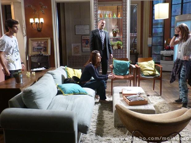 É, marrentinha! Agora a casa caiu! Será que a amizade da Lia e do Gil vai resistir a + essa? (Foto: Malhação / Tv Globo)