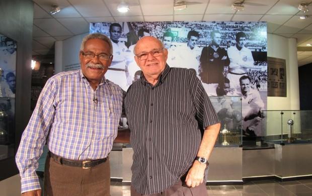 Coutinho e Pepe, ex-jogadores do Santos (Foto: Adilson Barros/Globoesporte.com)