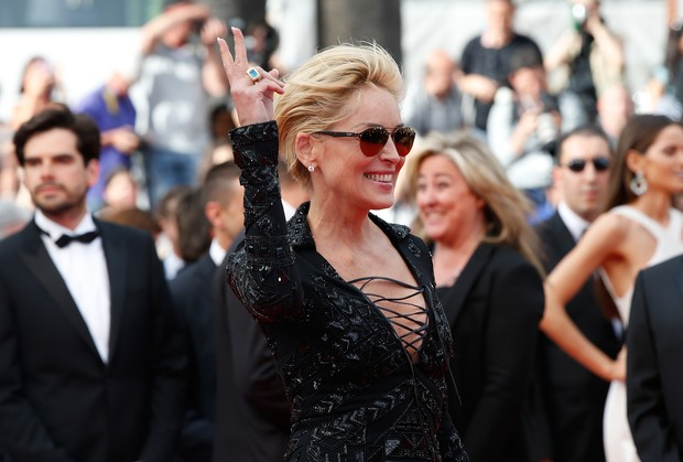 Sharon Stone no Festival de Cannes (Foto: AFP)