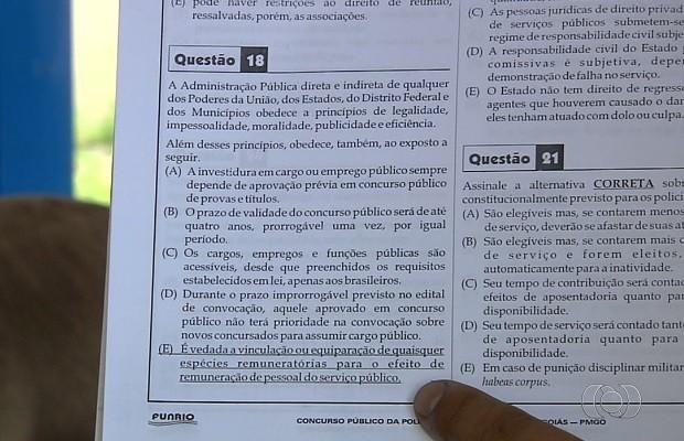 Candidatos denunciam supostas fraudes em concurso da PM, em Goiás (Foto: Reprodução/TV Anhanguera)