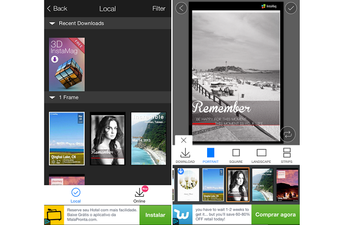 Usuário pode virar capa de revista no FotoRus (Foto: Reprodução/Thiago Barros) (Foto: Usuário pode virar capa de revista no FotoRus (Foto: Reprodução/Thiago Barros))