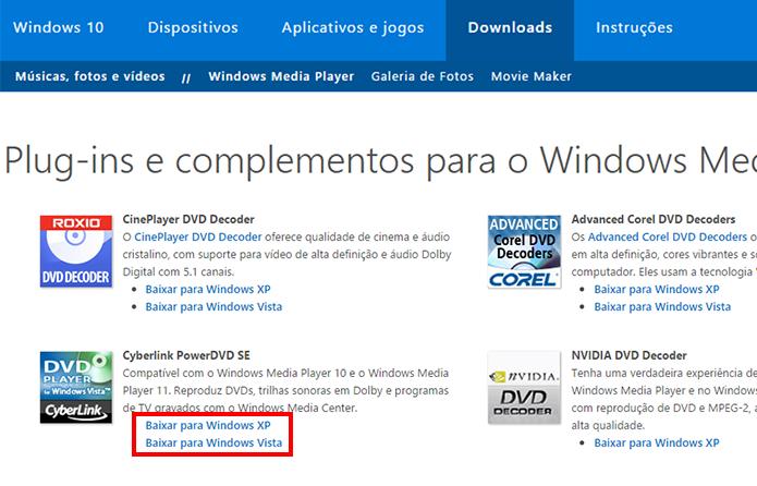 Escolha o plugin e a versão compatível com seu PC (Foto: Reprodução/Paulo Alves)