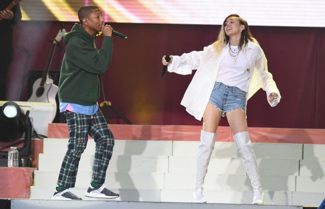 Pharrell Williams e Miley Cyrus (Foto: Getty Images)