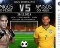 """Hulk e Pezão reúnem amigos em """"duelo de titãs"""" no Estádio Amigão"""