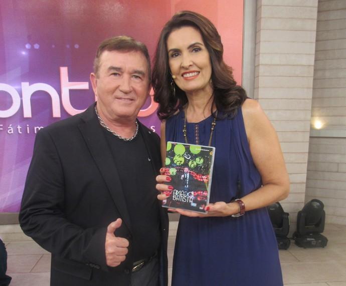 Amado Batista cantou sucessos no programa (Foto: Monique Arruda/Gshow)