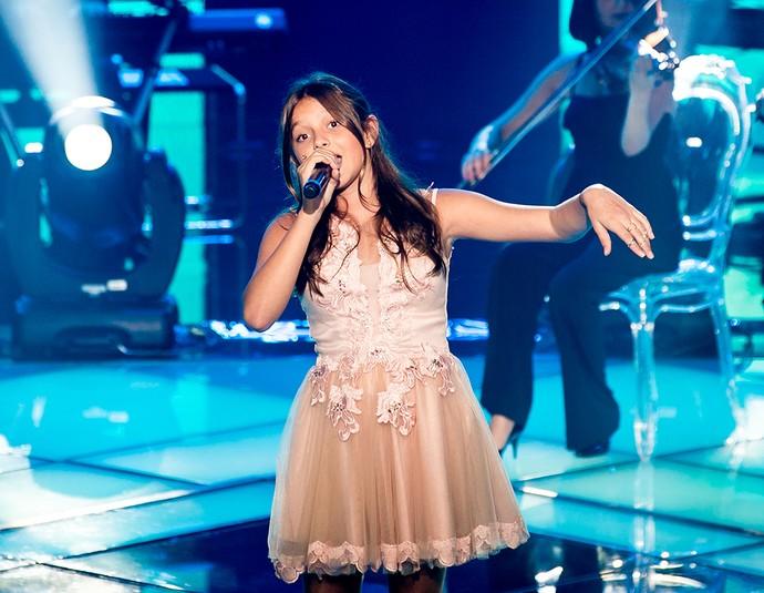 "Laura Schadeck cantou ""A thousand years"", música que se confunde com a história do The Voice Brasil (Foto: Isabella Pinheiro/Gshow)"