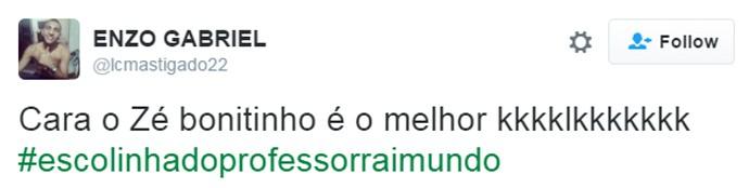 Zé Bonitinho arranca elogios na web (Foto: Reprodução)