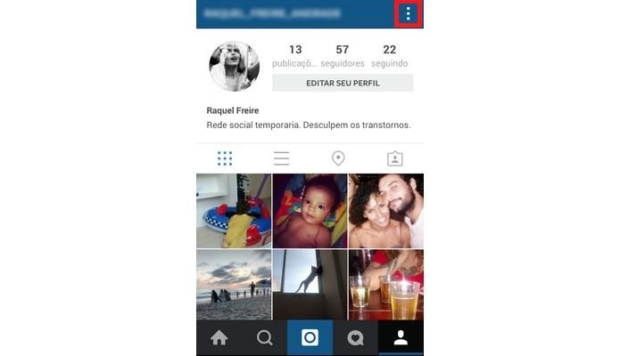 Menu Opções do Instagram em destaque (Foto: Reprodução/ Raquel Freire)