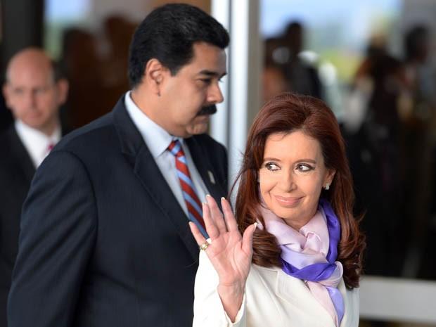 A presidente da Argentina, Cristina Kirchner, participa da VI Cúpula do Brics, em Brasília (Foto: Evaristo Sá / AFP)
