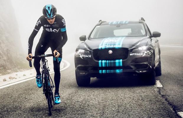 Jaguar F-Pace será carro de apoio no Tour de France (Foto: Divulgação)