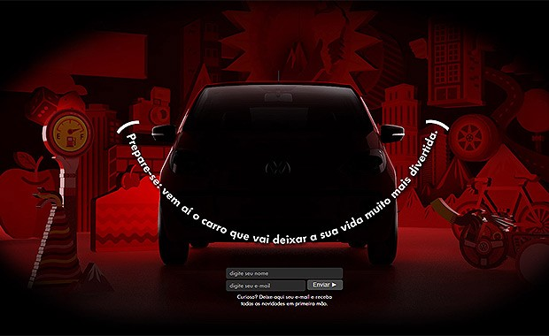 Vw up! já tem teaser no site brasileiro (Foto: Volkswagen)