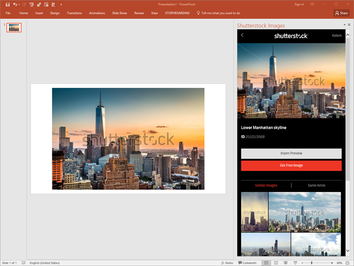 Plugin do Shutterstock insere imagens diretamente em apresentações do Power Point (Foto: Divulgação/Shutterstock)