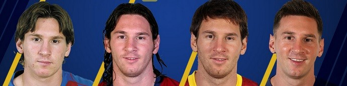 Messi evolução