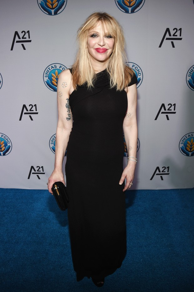 Courtney Love em evento em Nova York, nos Estados Unidos (Foto: Bryan Bedder/ Getty Images/ AFP)
