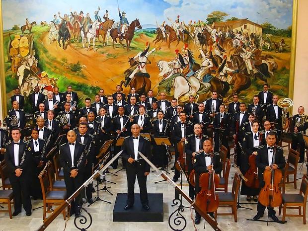 Banda Sinfônica do Exército faz abertura festiva do Festival de Música (Foto: Divulgação/Festival de Música de Londrina)