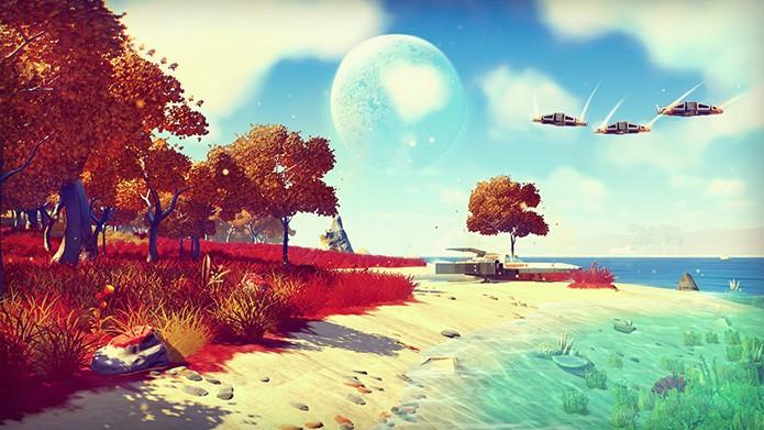 No Mans Sky cria universo infinito para os jogadores explorarem. (Foto: Divulgação)