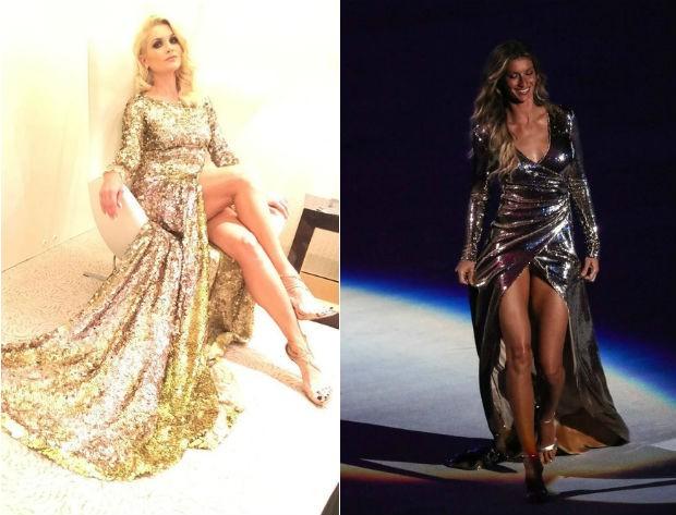 Flávia Alessandra usa vestido parecido com o de Gisele Bündchen (Foto: Reprodução/Instagram // William Volcov/BPP/AgNews)