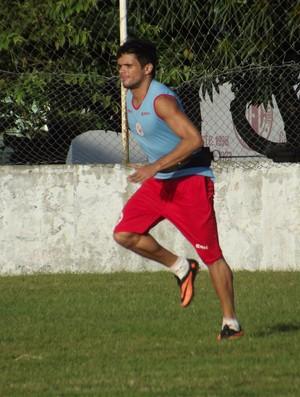 Norberto, lateral-direito do América-RN (Foto: Tiago Menezes)