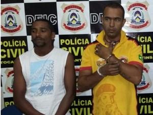 Homens são suspeitos de participar da explosão de um caixa eletrônico de um supermercado em Palmas (Foto: Divulgação/SSP-TO)