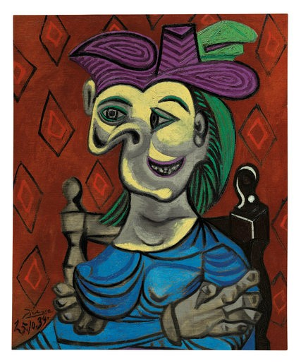 O segundo preço mais alto da noite foram os 45 milhões de dólares pagos por quadro de Picasso (Foto: Divulgação)