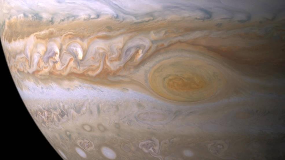A Grande Mancha Vermelha, a parte mais misteriosa de Júpiter (Foto: NASA/JPL/Space Science Institute)