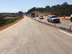 Trecho em obras da MG-050 em Divinópolis (Foto: AB Nascentes das Gerais/Divulgação)
